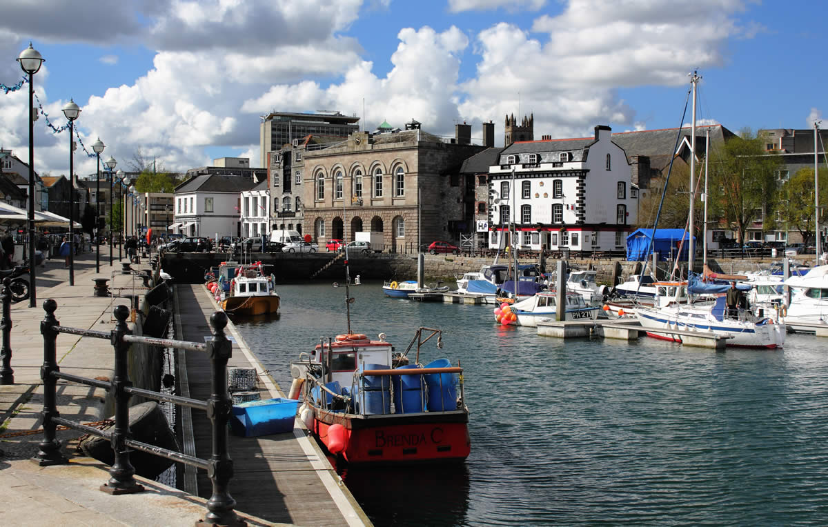About Us - A view of Plymouth harbour from the sea - Jet Ski Safaris Plymouth
